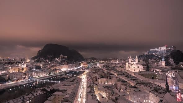 Evening timelapse of Salzburg