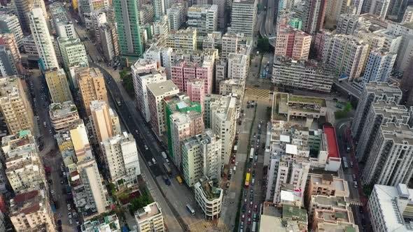 Hong Kong city from top