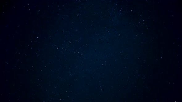 Thumbnail for Night Starry Sky. A Shooting Star in the Sky.
