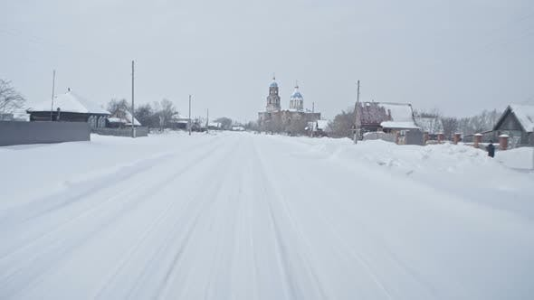 Thumbnail for Driving Through Old Russian Village in Winter