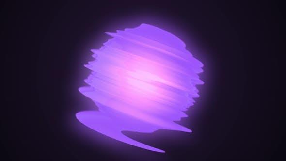 Abstract purple energy ball