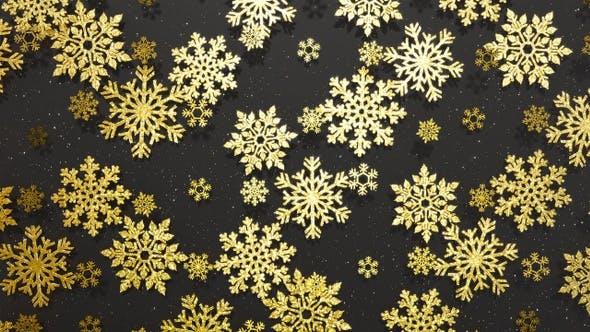 Thumbnail for Snowflakes Golden Glitter 3