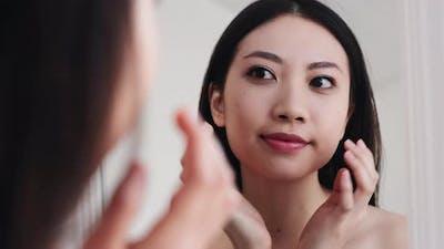 Korean Skincare Facial Treatment Asian Woman Face