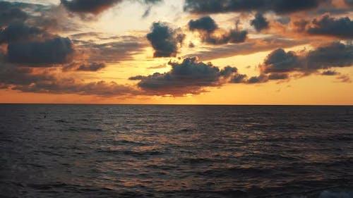 Sunset Under Ocean