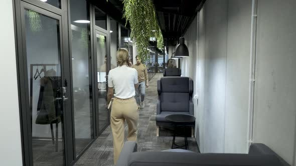Thumbnail for Corporate Business Office Employees Walking