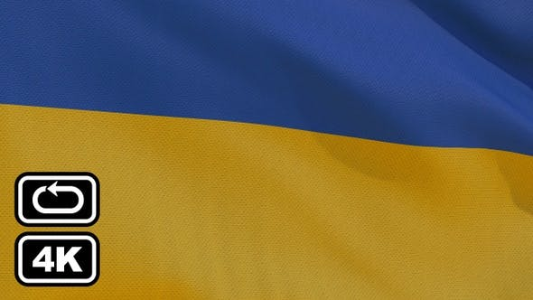 Thumbnail for Ukraine Flag 4K Seamless Loop