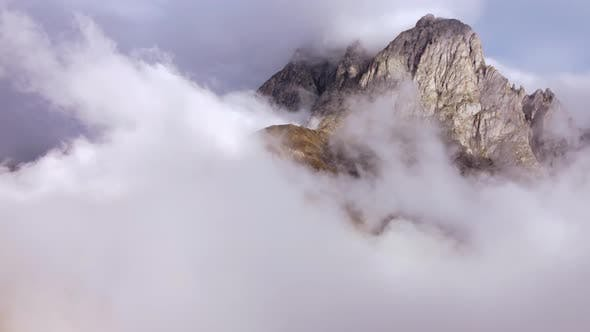 Rocky Peak Wrapped In The Fog