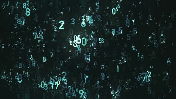 Blue Flying Numbers