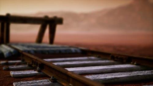 Abandoned Railway Tracks in the Desert