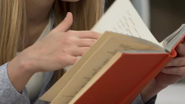 Thumbnail for Happy Teenage Girl Enjoying Novel