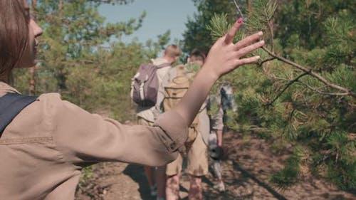 Young Woman Enjoying Nature on Hike
