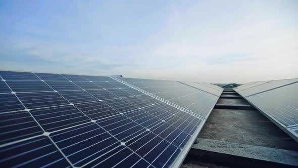 Thumbnail for Solar Panels in Rows Under the Blue Sky