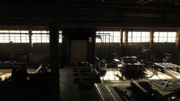 Large Dark Warehouse for Building Materials