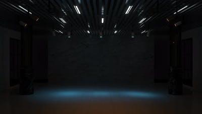 Focus lights in the dark room
