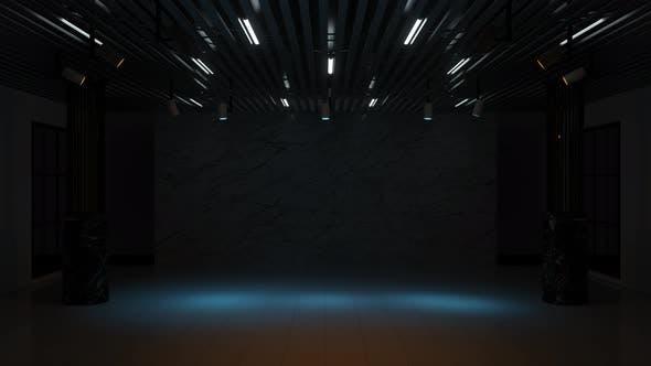 Fokuslicht im dunklen Raum