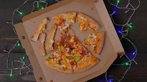 Eaten Pizza Flat Lay