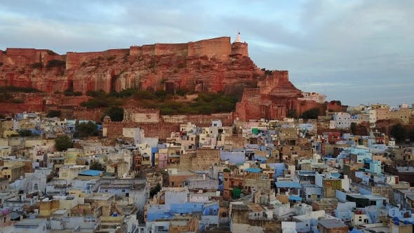 Thumbnail for Blue city and Mehrangarh Fort in Jodhpur, Rajasthan