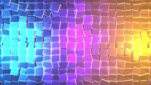 3D разноцветные сверкающие кубики