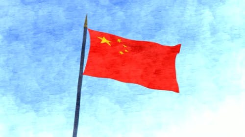 China Flag Stop Motion