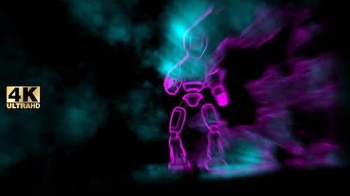 Futuristic Background Humanoid