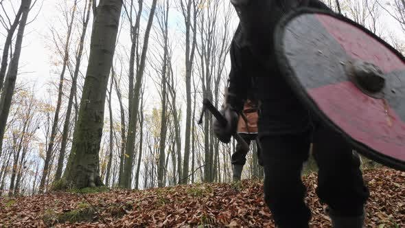 Thumbnail for Viking warriors descending into the forest