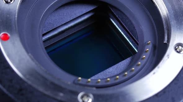 Thumbnail for Dslr Camera Body And Mirrorless Sensor Rotating Around