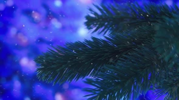 Thumbnail for Christmas tree branch rotating