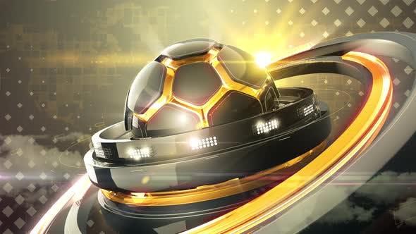 Thumbnail for Orange Soccer Background
