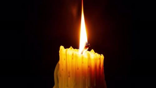 Time Lapse of a  Candle Burning