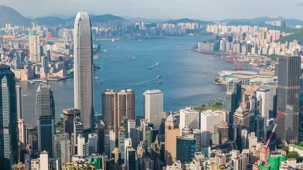 Thumbnail for Timelapse of Hong Kong cityscape