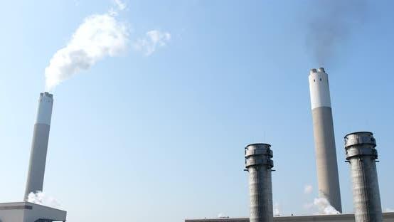 Smoke stack emit smoke