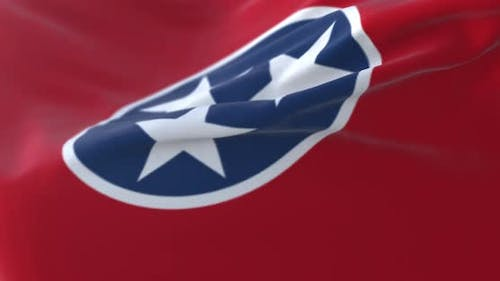 Flag of American State of Tennessee