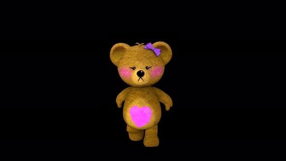 Thumbnail for 4K Teddy Girl Run