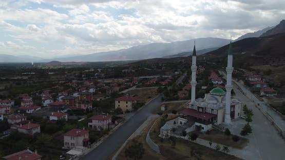 Village Mosque Aerial View