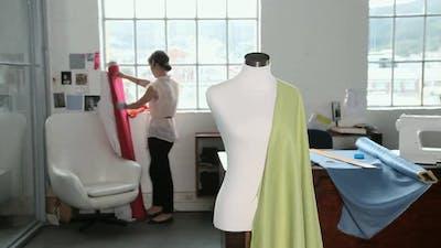 Young female fashion designer