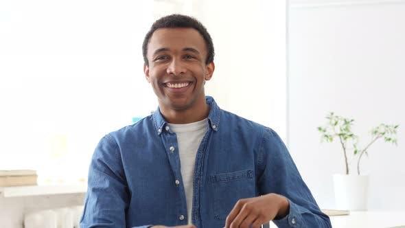Heart Shape by Afro-American Man, Portrait