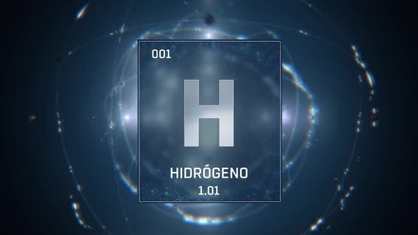 Thumbnail for Hydrogen as Element 1 of the Periodic Table on Blue Background Spanish