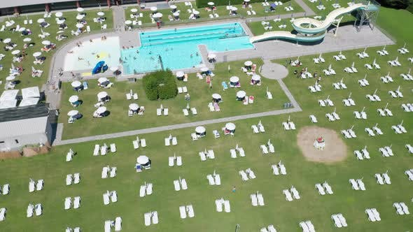 Thumbnail for Open Air Pubblic Swimming Pool Aerial View