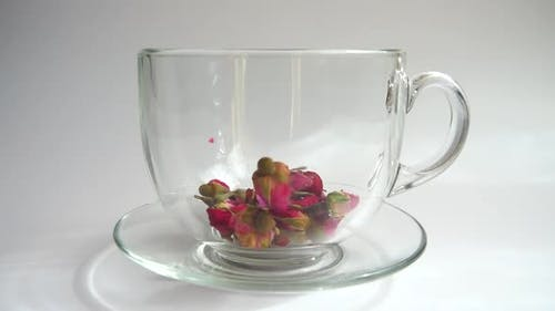 Flower tea from the petals of the tea rose.