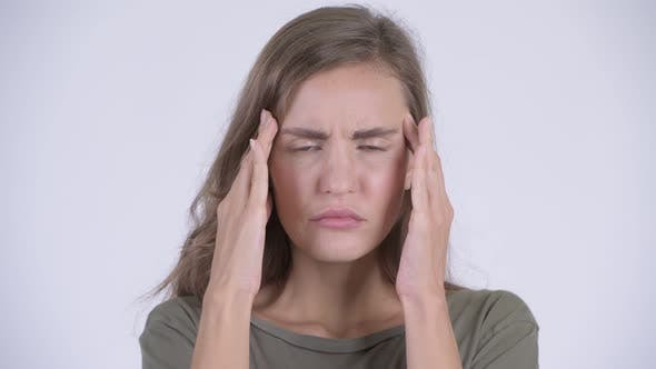 Thumbnail for Face of Young Stressed Woman Having Headache