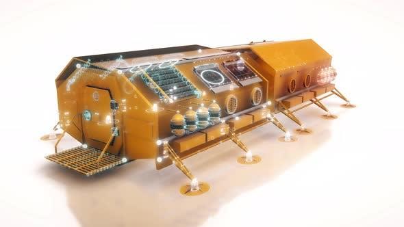 Thumbnail for Residential Module Of A Planetary Habitable Station 4k