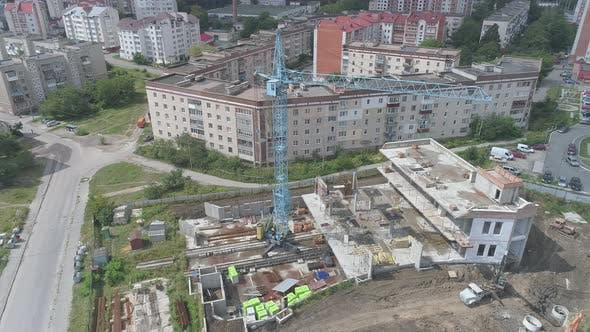 Thumbnail for Aerial view of a construction site
