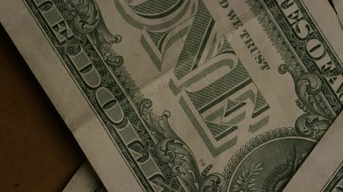Rotating shot of American money (currency) - MONEY 470