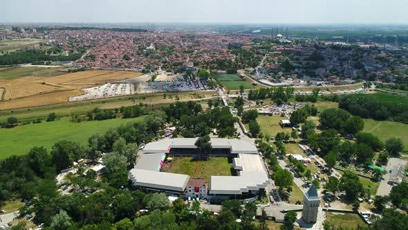 Thumbnail for Aerial View Wrestling Festival Area