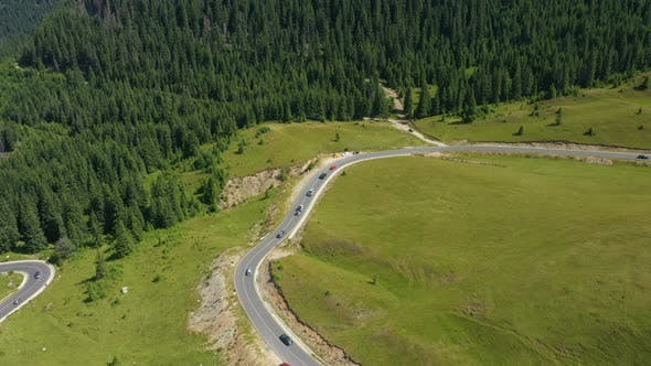Aerial View Of Famous Romanian Mountain Road Transalpina 21