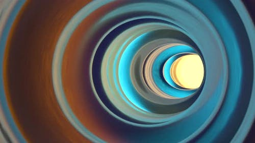 Colorful glowing tunnel, multicolor hole.