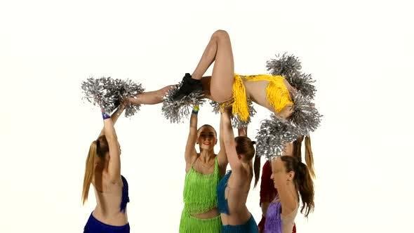 Group of Beautiful Girls Dancing