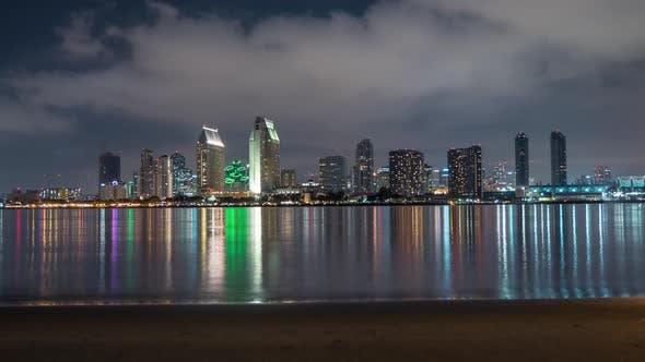 Thumbnail for Timelapse of San Diego skyline
