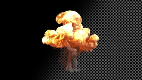 Small Puffy Explosion on Transparent Background