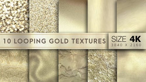 10 Looping Gold Texture